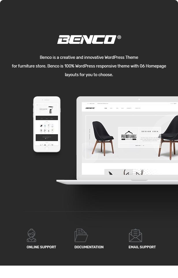 WordPress theme Benco - Responsive Furniture WooCommerce WordPress Theme (WooCommerce)