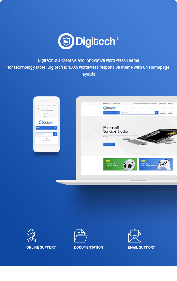 WordPress theme Digitech - Technology Theme for WooCommerce WordPress (WooCommerce)
