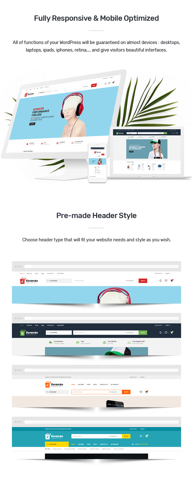 Download Korando – Multipurpose Theme for WooCommerce WordPress nulled des 05